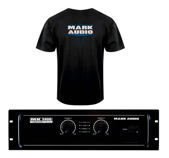 Amplificador Potência 400w Mark Áudio Mk 2400 Edição Limitad