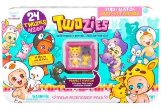 Twozies Pack 24 Figuras Mega Friendship Accesorios Ink Edu