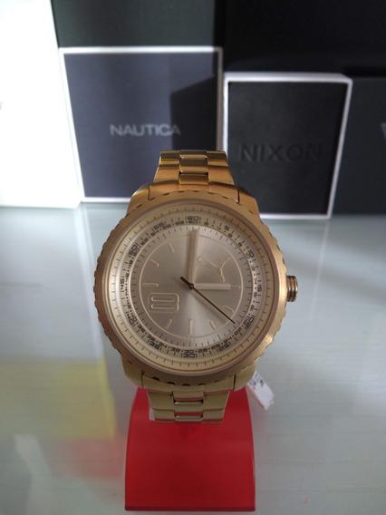 Relógio Puma Dourado Modelo Feminino Todo Em Aço