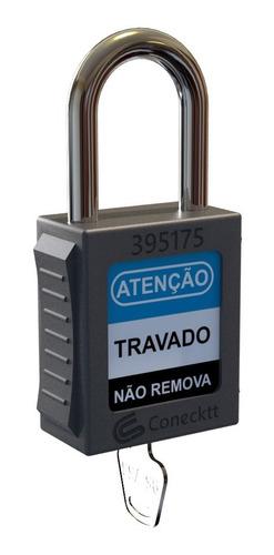 Imagem 1 de 6 de Kit C/12 Cadeados Haste Metálica Loto - Tagout Lockout