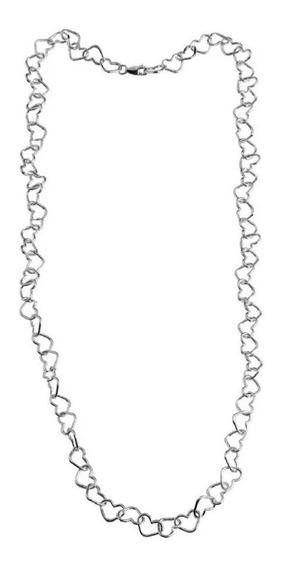 Gargantilha Choker 40cm Elo Coração Corrente De Prata 925