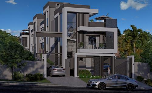 Sobrado Em Condomínio Com 3 Dormitórios À Venda Com 175.75m² Por R$ 849.000,00 No Bairro São Lourenço - Curitiba / Pr - So00332