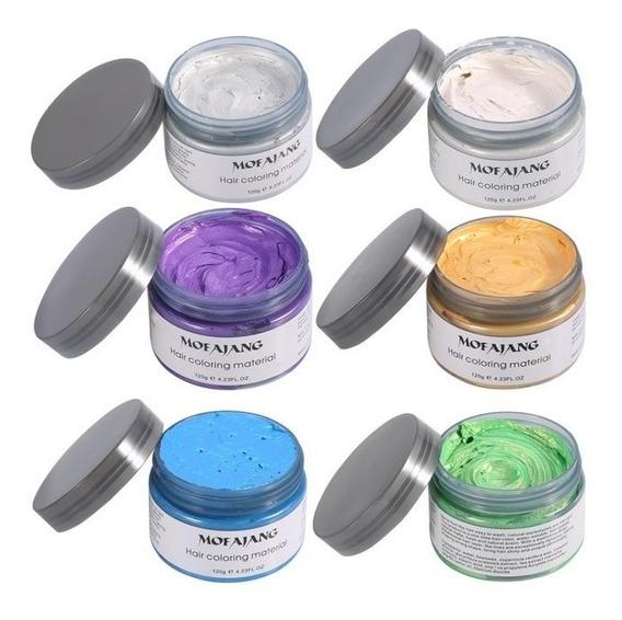 Mofajang Colors Pomada Que Muda Cor Cabelo Colorido 120g