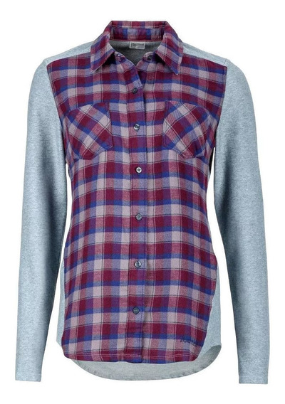 Camisa Mujer Marmot Lani Flannel Ls