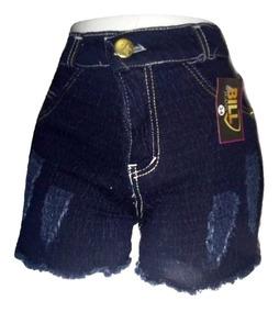 06 Short Jeans Lavado Feminino Hotpant Com E Sem Lycra