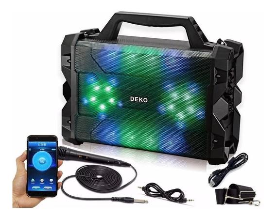 Caixa De Som Amplificada Bluetooth Led Sound System Deko