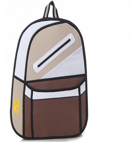 Mochila Bolso Diseño 2d 3d Cartoonbag Backpack Importada 2