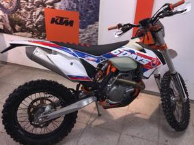 Motocicleta Ktm 450 Exc Six Days 2017 4300km Blanca