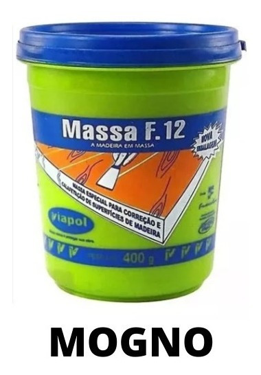 Massa F12 Calafetar Correção Madeira Viapol 400gr Div Cores