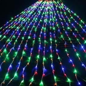 2 Cortina Led 3 X 3m Colorida 8 Funções Decoração Natal 110v