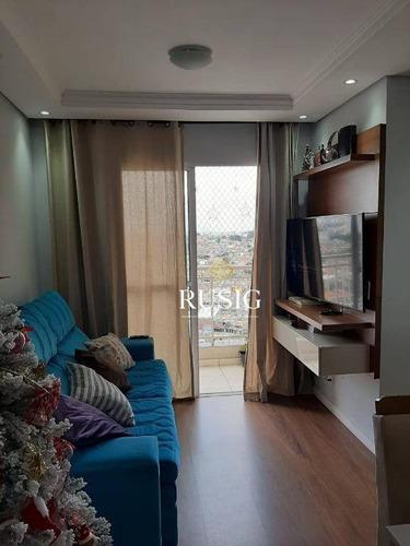 Apartamento Com 2 Dormitórios À Venda, 49 M² - Parque Boturussu - São Paulo/sp - Ap1463