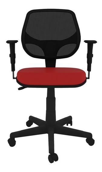 Cadeira Executiva Giratória Em Tela Fly C/ Braço Regulável