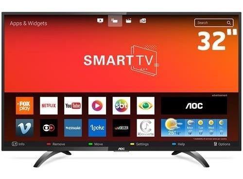 Smart Tv Led 32 Hd Aoc Le32s5970s Com Wi-fi, Botão Netflix