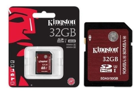 Cartão De Memória Kingston Sd 32gb Classe 3
