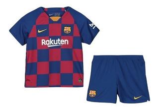 Kit Infantil Barcelona 2020 - De Jong, Messi, Suarez, Pique