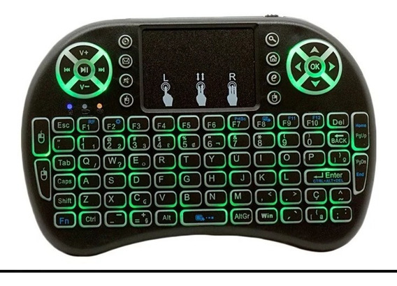 Mini Teclado Sem Fio Com Led Para Tv Box ,smartv,playstation