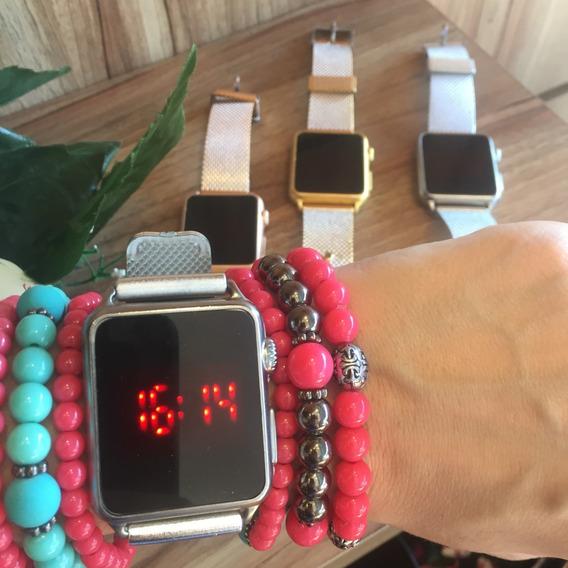 Relógio Feminino Touch Digital Pulseira Silicone Várias Core