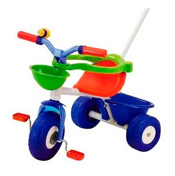 Triciclo Blue Metal Rondi C/ Barral Direccional Lloretoys