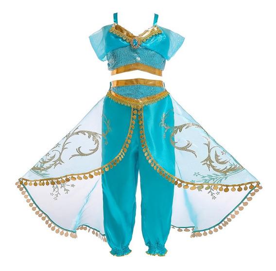 Vestido Jasmine Aladin Disfraz Para Niña Aladino Jazmine