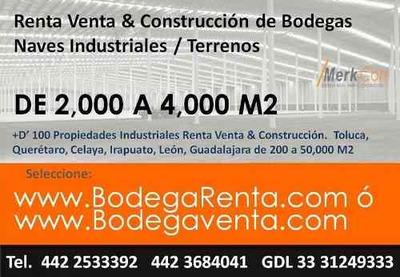 Bodegas Y Naves Industriales En Renta 2000 A 4,000 M2 Queretaro Mexico