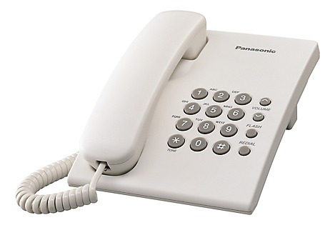 Telefono De Mesa Blanco/negro Panasonic Kx-ts500lx1-w-b Pa