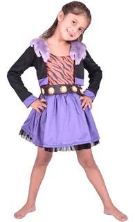 Disfraz Monster High Clawdeen Talle 1 Lic Mattel 3 / 4 Años