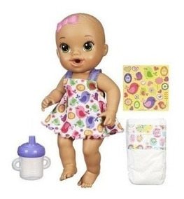 Boneca Baby Alive Hora Do Xixi Morena Hasbro Br0036