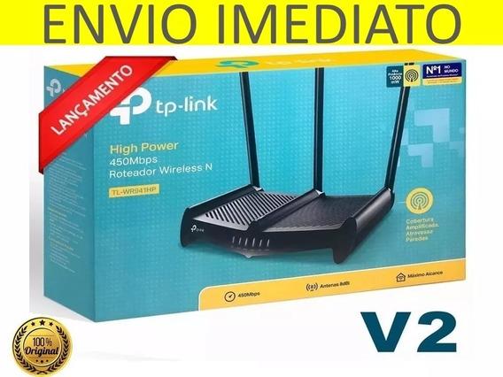 Roteador Wi-fi Tp-link Tl-wr941hp 450mbps8dbi V2 Atravessa P