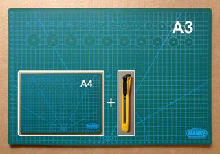 Combo De Tapetes De Corte Marca Manny (a3 Y A4) + Cutter