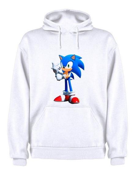 Sudadera Con Gorro Sonic Película Moda Adulto