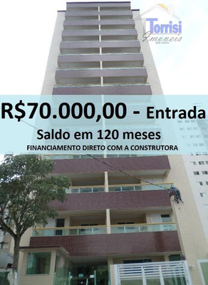 Apartamento Em Praia Grande, R$ 70.000,00 De Entrada, Entrega Dezembro De 2016 Na Vila Tupi. Ref. Ap0108 - Ap0108