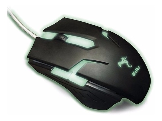 Mouse Gamer Titanium Base Metálica Led 2400dpi Kolke Kmg-503