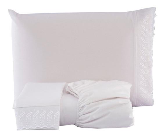 Lençol Casal Box 200 Fios 100%algodão Avulso Com Elastico