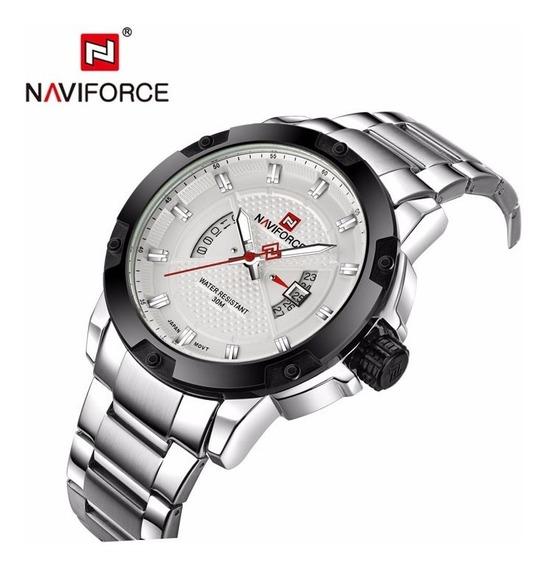Relógio Naviforce Nf9085, Prata, Aço Inoxidável, Resistente