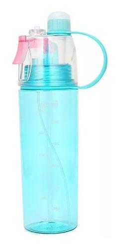 Imagen 1 de 9 de Botella De Agua Deportiva Con Atomizador Para Refrescarse