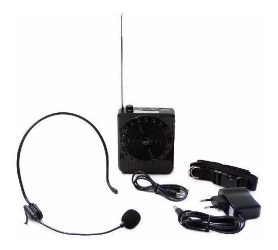 Amplificador De Voz Kit Professor Guia Microfone Headset