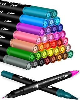 Set De Marcadores De Arte Para Colorear, 36 Puntas Dobles