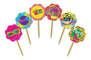 Minis Piropos Toper Para Fiestas Cupcake 144 Unid