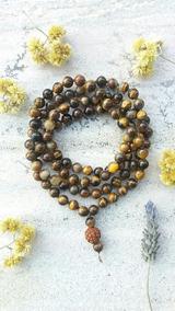 Japamala Pedras Naturais 8mm Olho De Tigre 108c Prana Yoga