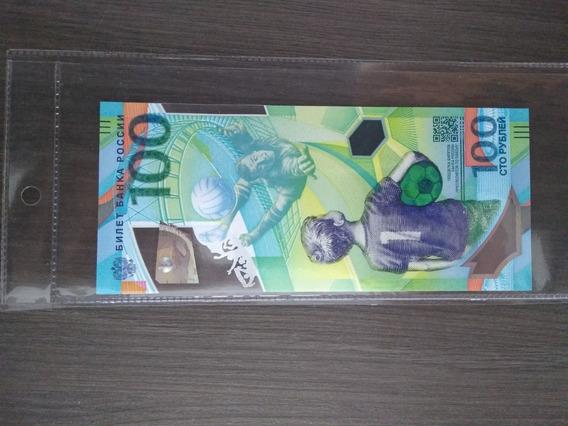 Russia Copa Russia 2018 100 Rublos Original Oficial