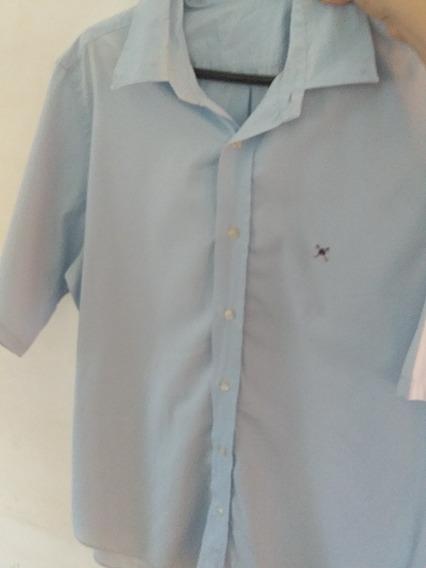 Camisa Social Masculina Pólo Play Azul Claro