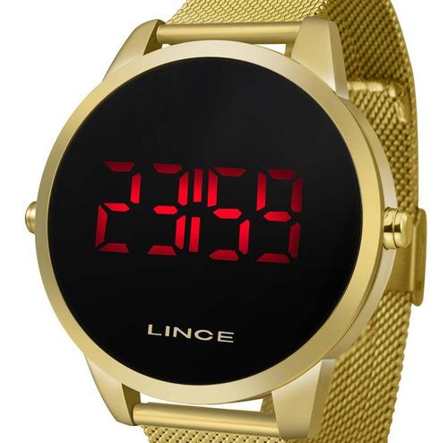 Imagem 1 de 4 de Relógio Feminino Lince Digital Mdg4586l Pxkx Dourado