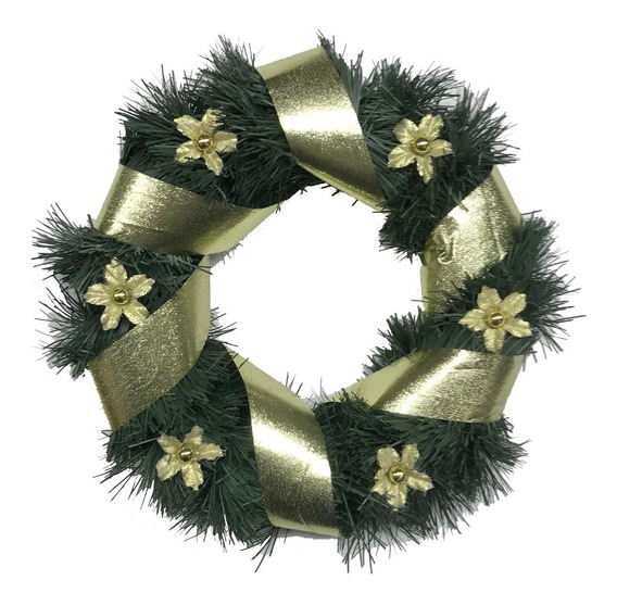 Corona Navidad 20 Cm Decorada #625