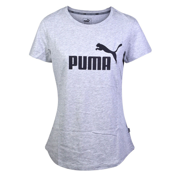 Remera Puma Essentials Mujer Gris