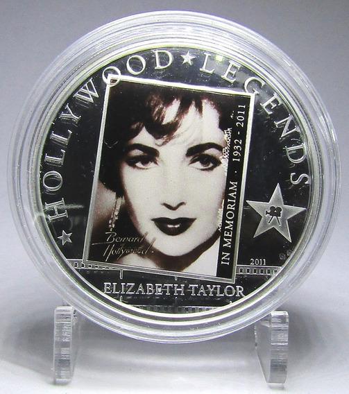 Islas Cook Moneda 1 Dolar 2011 Niquel Elizabeth Taylor Proof