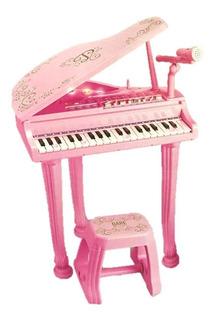 Juguete Piano Organo Disney Princesas Deluxe Con Banquito