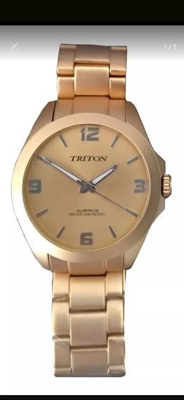Relógio Triton Dourado