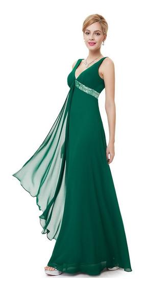 Vestido Festa Madrinha Longo Coral Lilás Verde, Azul Tiffany