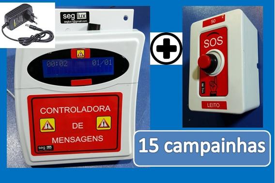 15 Campainha Emergência Enfermeiro Clinica/asilo/casa Repous