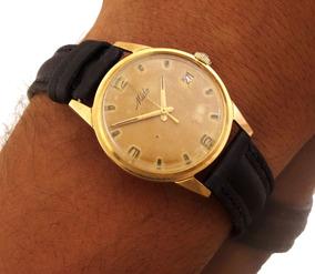 Relógio Mido Masculino C/ Calendário Todo Em Ouro 18k J10852